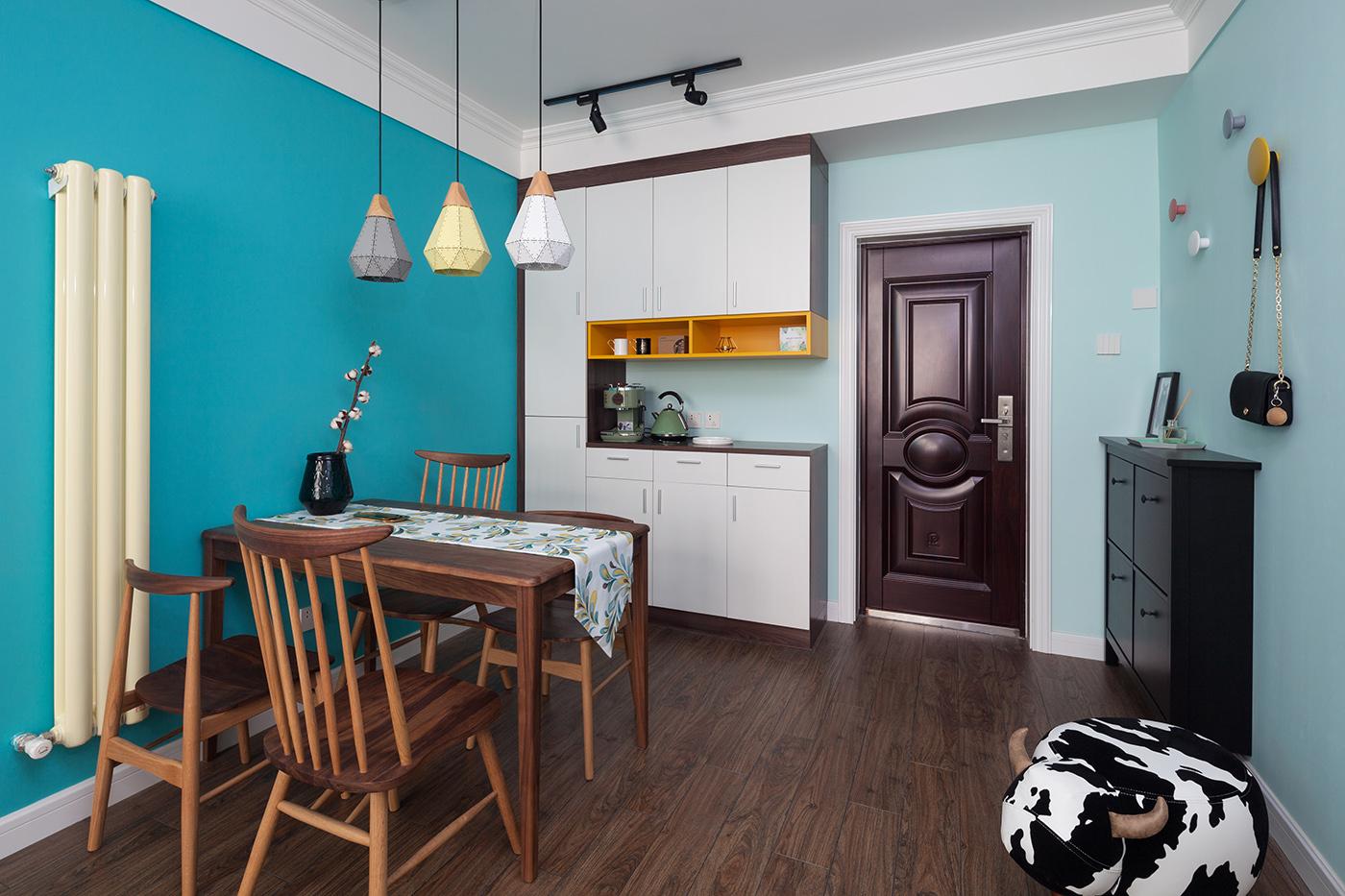 地中海 三居 80后 餐厅图片来自金空间装饰集团在清爽•地中海的分享