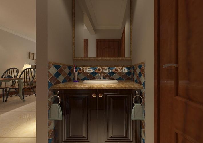 简美风格 设计 百家装饰 效果图 卫生间图片来自百家装饰--小莹在简美风格设计的分享