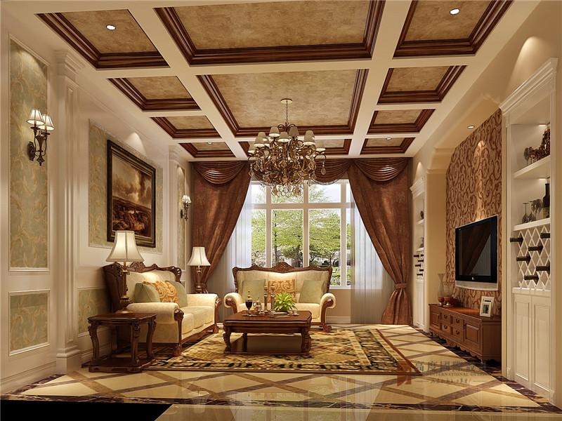 美式 三居 公寓 大户型 80后 小资 客厅图片来自高度国际姚吉智在140平米美式三居公寓张扬的奢华的分享