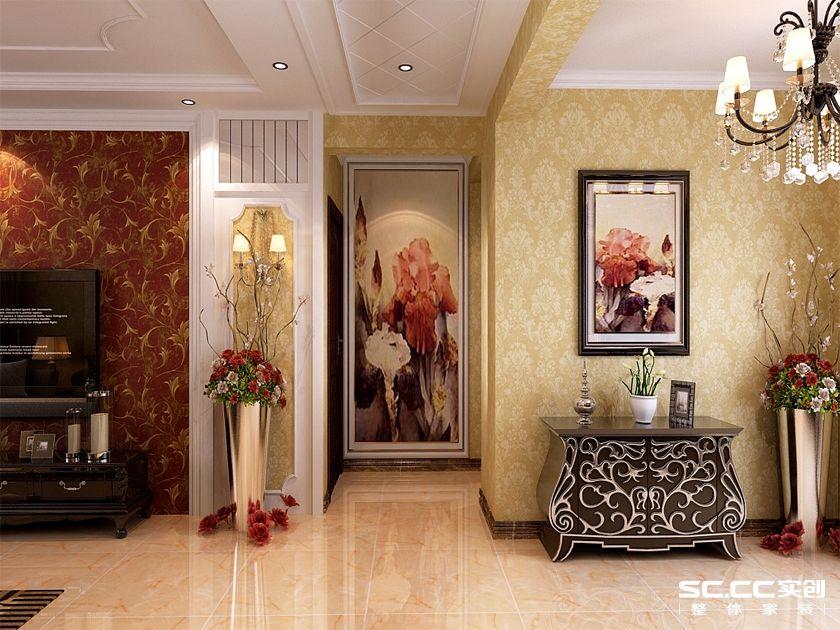 实创 银丰故里 三居 简欧 80后 玄关图片来自快乐彩在银丰故里144平三居室简欧装修的分享