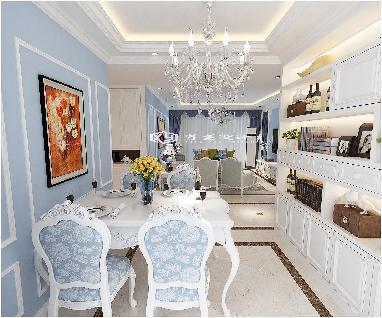 三居 收纳 小资 欧式 简约 明亮浅色装 餐厅图片来自青岛全屋整装在青岛市南鲁润静园139平装修的分享