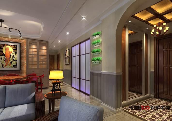 三居 客厅 厨房 餐厅图片来自百家装饰小西在世茂五里河130平新古典风格的分享