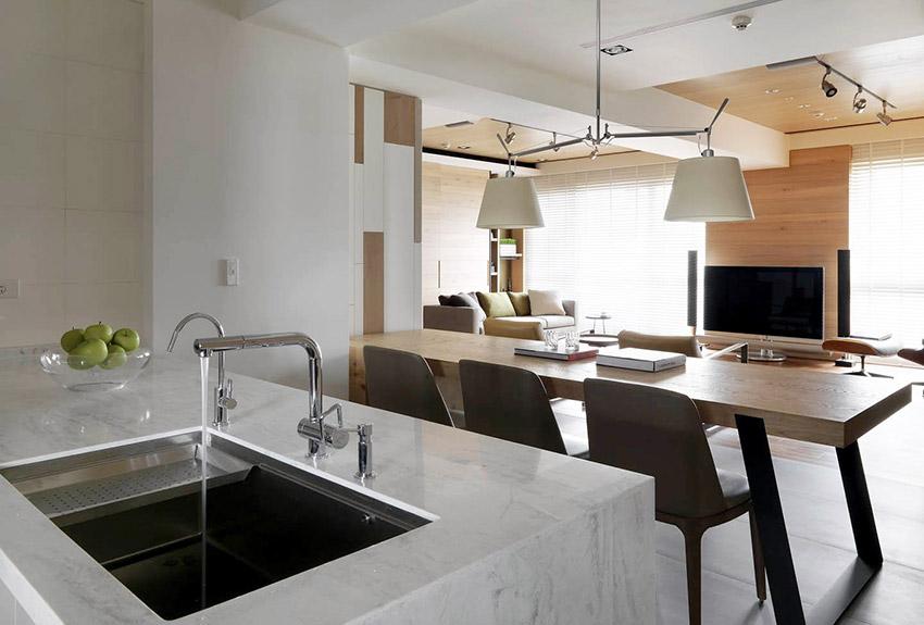厨房图片来自金空间装饰集团在绿地新都会128平米新中式风格的分享