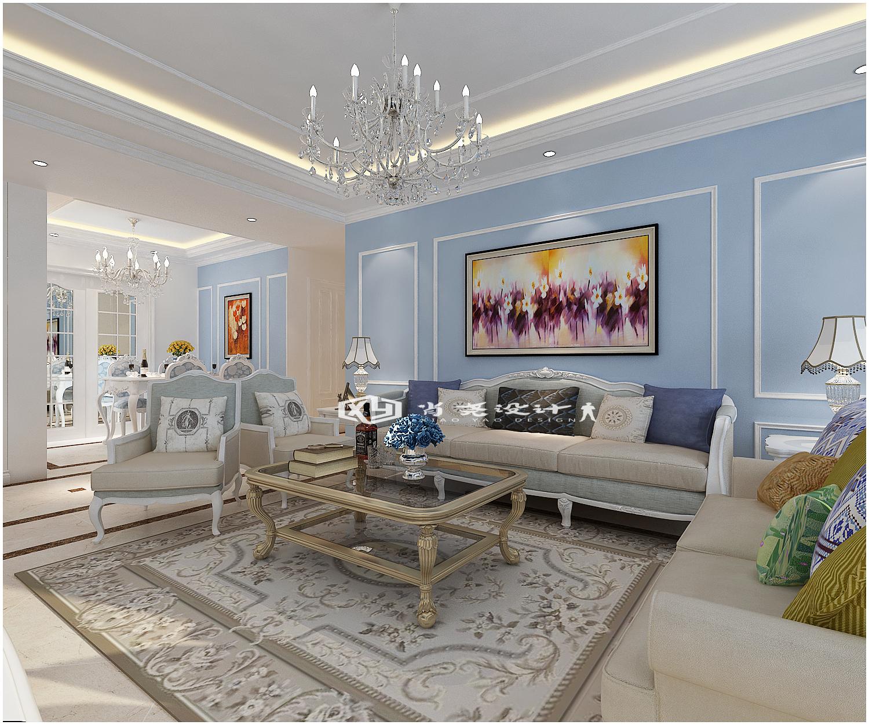 三居 收纳 小资 欧式 简约 电视背景墙 沙发墙设计 客厅图片来自全屋整装设计在青岛市南鲁润静园139平装修的分享