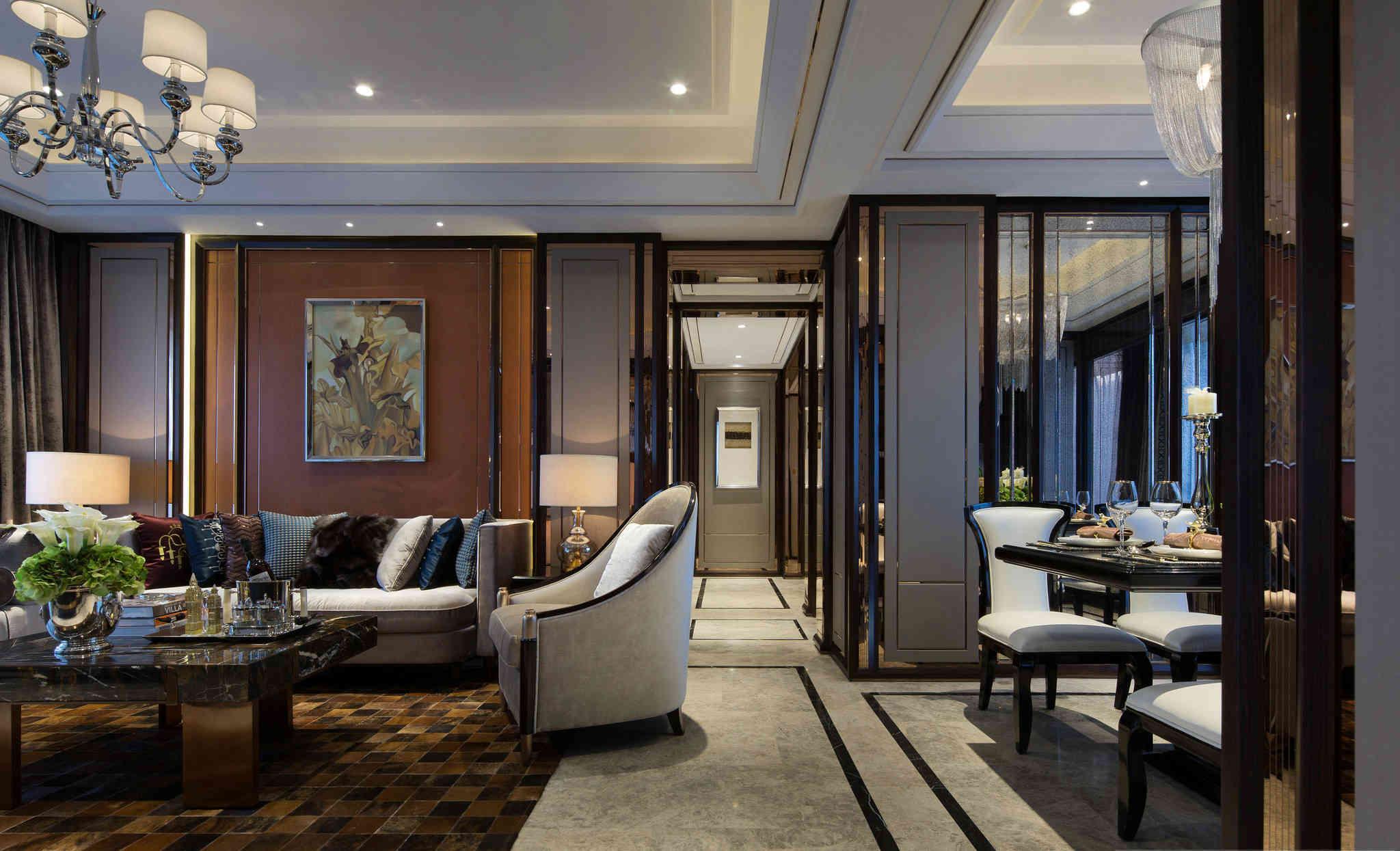 收纳 餐厅 混搭 三居 客厅 卧室图片来自武汉拜斯达装饰设计工程有限公司在美图专辑的分享