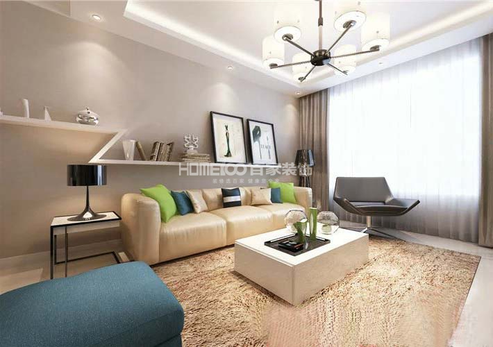 二居 广厦绿园 现代风格 客厅图片来自百家设计小刘在广厦绿园94平现代风格的分享