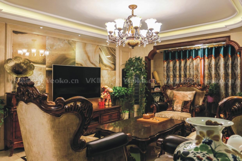 美式 三居 客厅 餐厅 三口之家图片来自VK国际设计在美式设计的分享