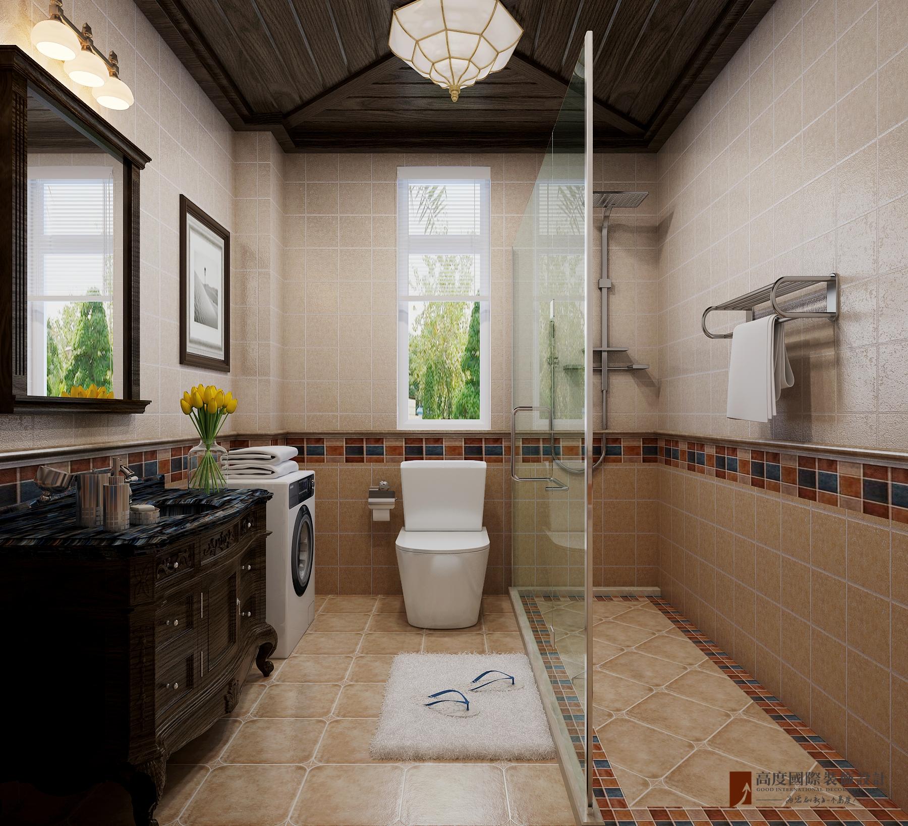 田园 混搭 别墅 客厅 卧室 厨房 餐厅图片来自设计师刘少帅在八达岭孔雀城的分享