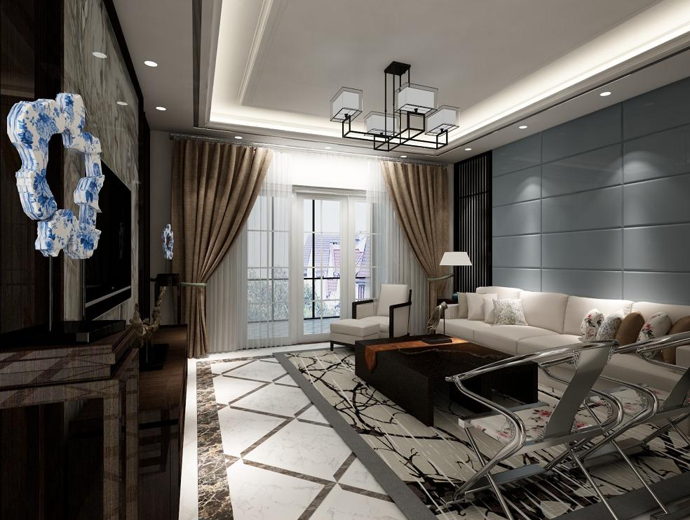 客厅图片来自湖北省大唐安盛建筑工程有限公司在蕲春别墅的分享