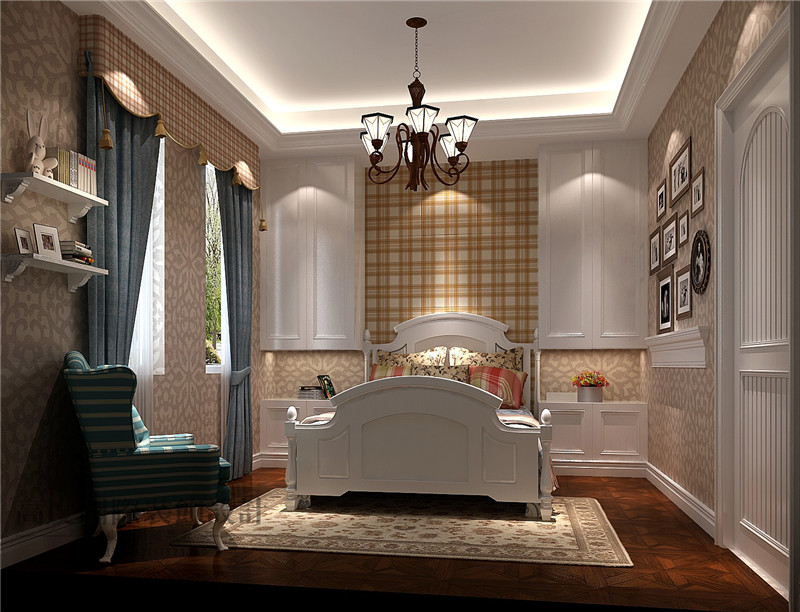欧式 别墅 客厅 卧室图片来自高度国际设计严振宇在欧美风格的分享