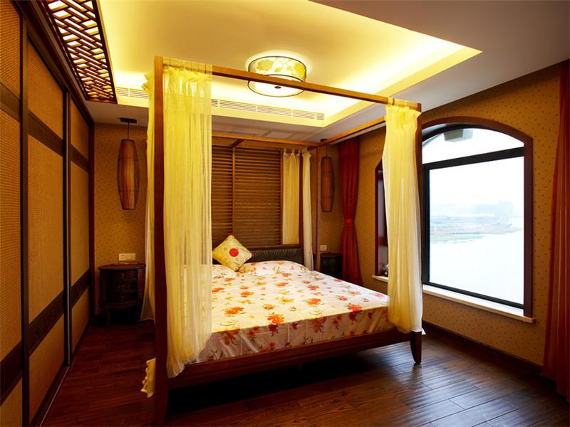 中式 别墅 大户型 80后 小资 复式 跃层 卧室图片来自高度国际姚吉智在180平米中式风情醉在茶乡梦的分享