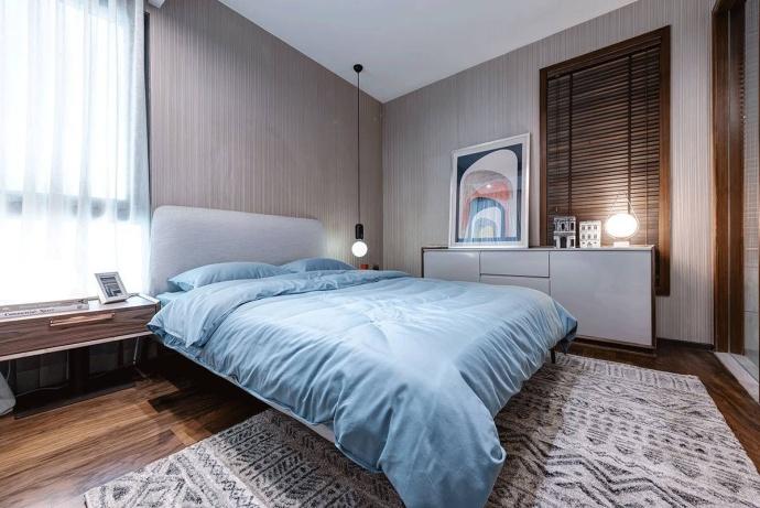 简约 三居 丰立装饰 武汉丰立装 卧室图片来自装饰公司18771098378在现代简约的分享