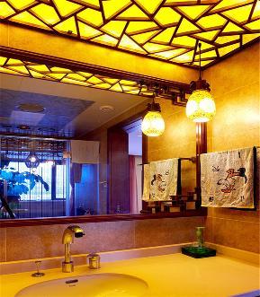 中式 别墅 大户型 80后 小资 复式 跃层 卫生间图片来自高度国际姚吉智在180平米中式风情醉在茶乡梦的分享