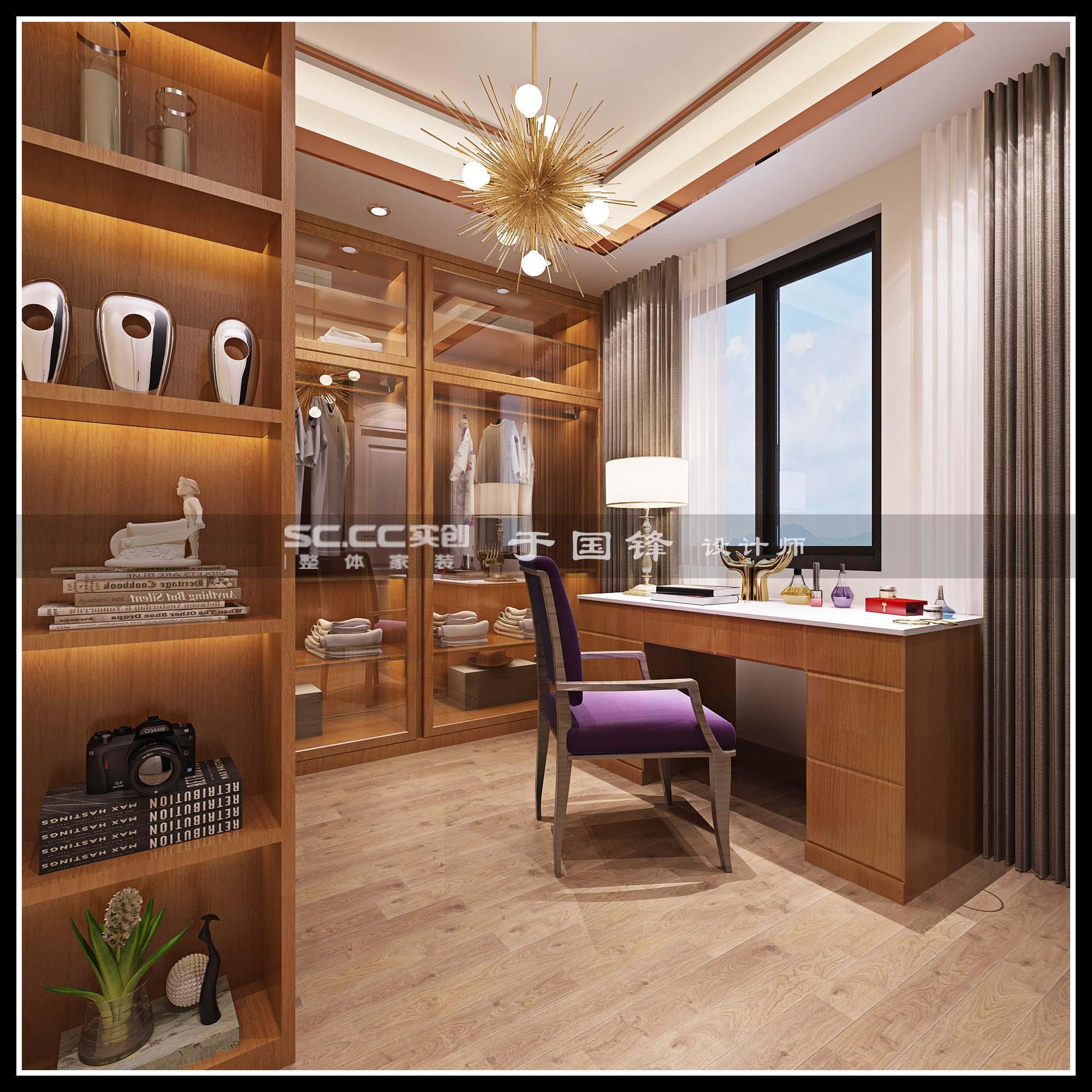 港式 别墅 世茂 玲珑台 书房图片来自快乐彩在世茂玲珑台240平联排别墅的分享