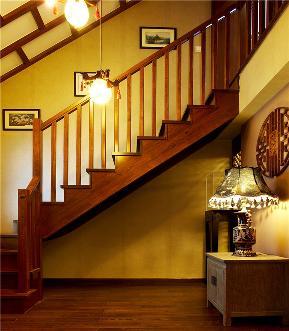 中式 别墅 大户型 80后 小资 复式 跃层 楼梯图片来自高度国际姚吉智在180平米中式风情醉在茶乡梦的分享