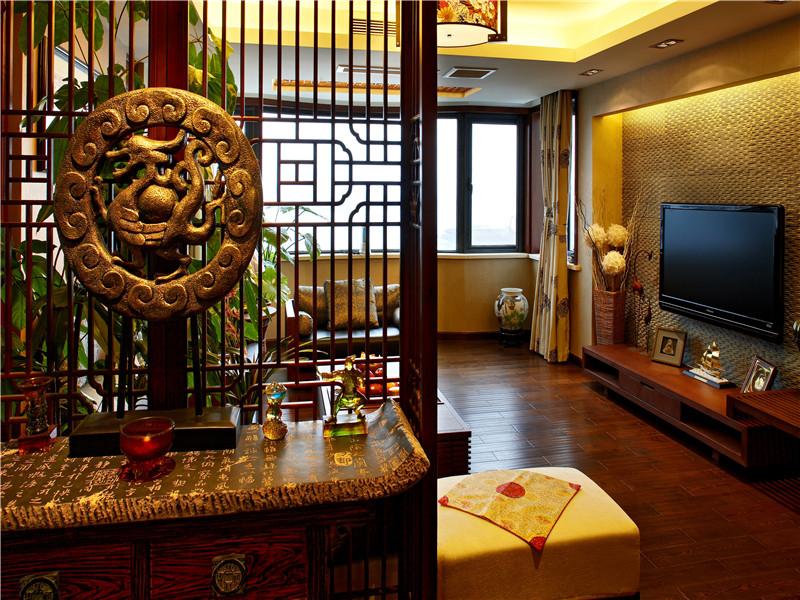中式 别墅 大户型 80后 小资 复式 跃层 客厅图片来自高度国际姚吉智在180平米中式风情醉在茶乡梦的分享