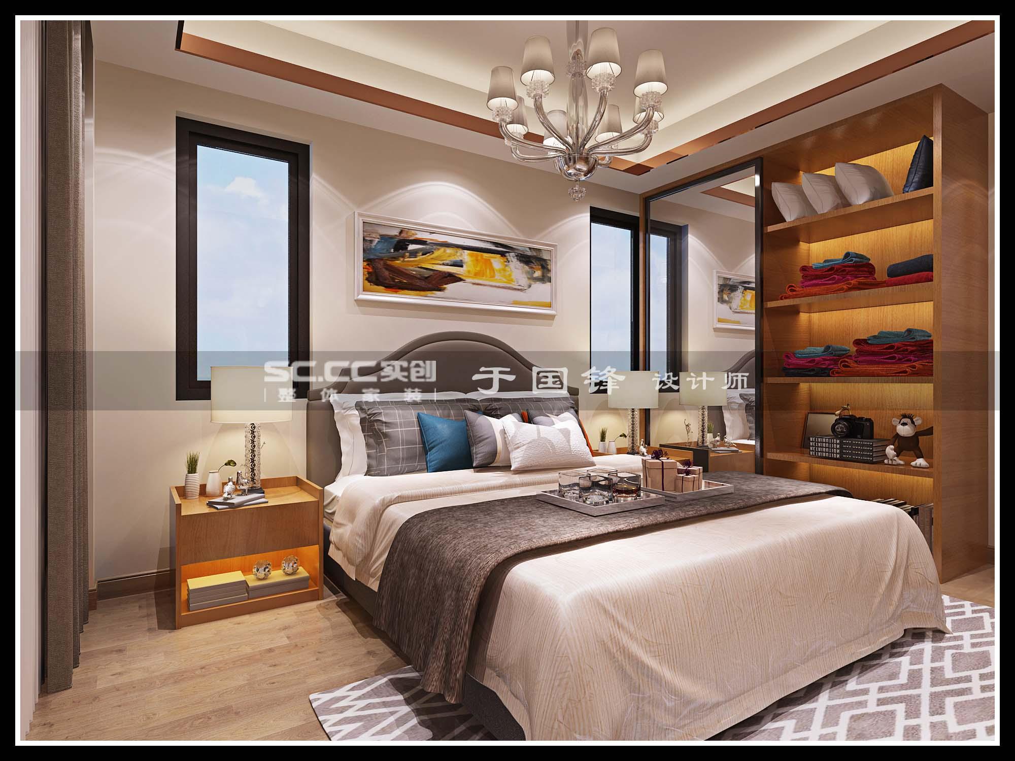 港式 别墅 世茂 玲珑台 卧室图片来自快乐彩在世茂玲珑台240平联排别墅的分享