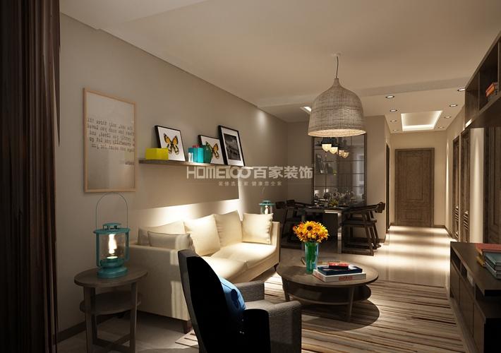 二居 中航城 现代风格 客厅图片来自百家设计小刘在中航城78平现代风格半包2.8万的分享