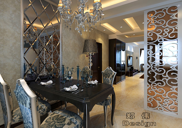 三居 克莱枫丹 现代风格 餐厅图片来自百家设计小刘在克莱枫丹134平现代风格的分享