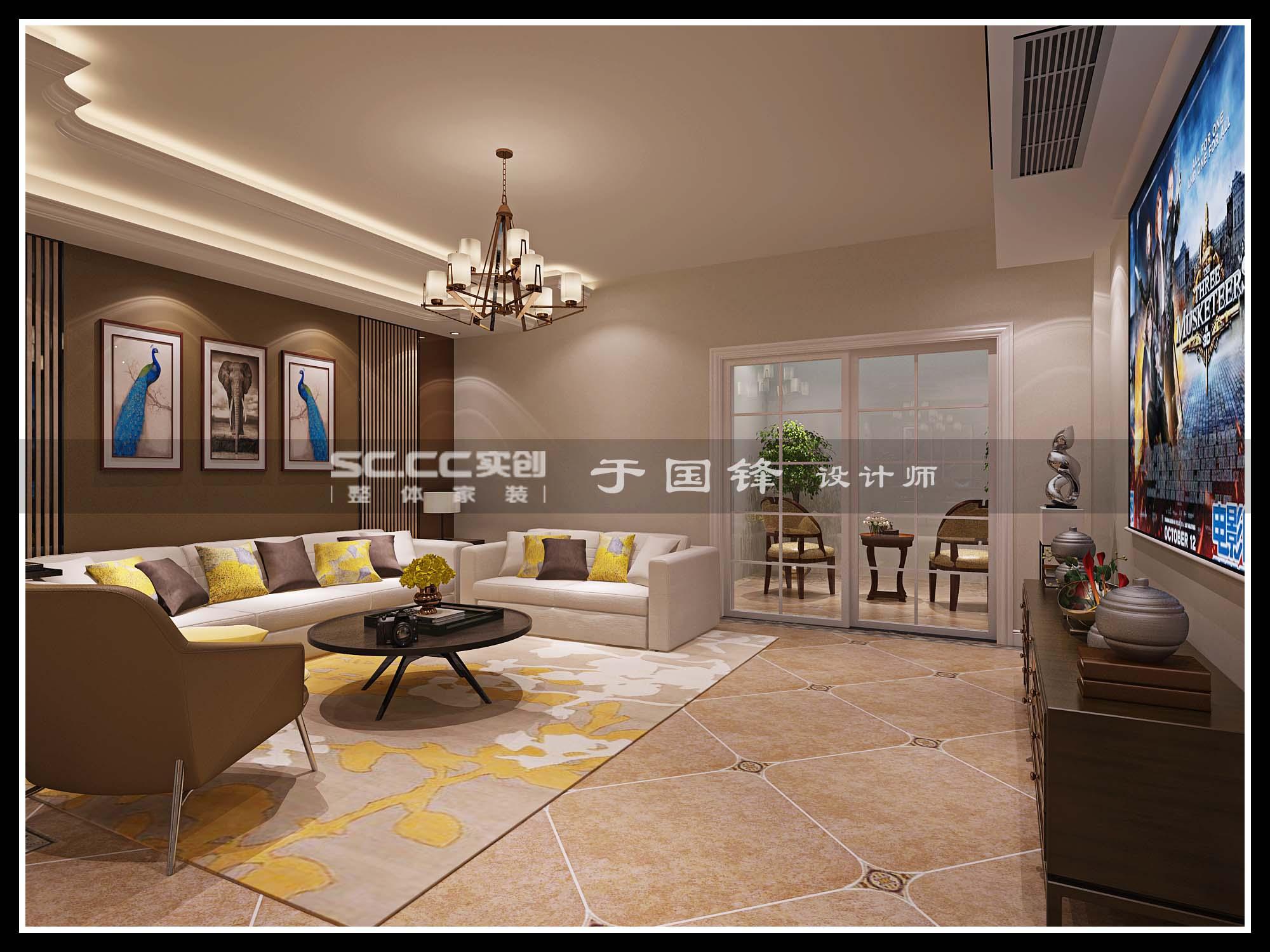 港式 别墅 世茂 玲珑台 客厅图片来自快乐彩在世茂玲珑台240平联排别墅的分享