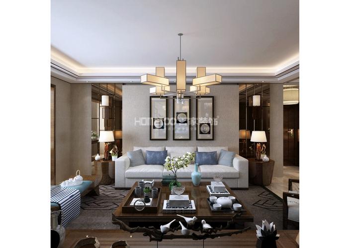 三居 中航城 中式风格 客厅图片来自百家设计小刘在中航城133平中式风格半包6万的分享