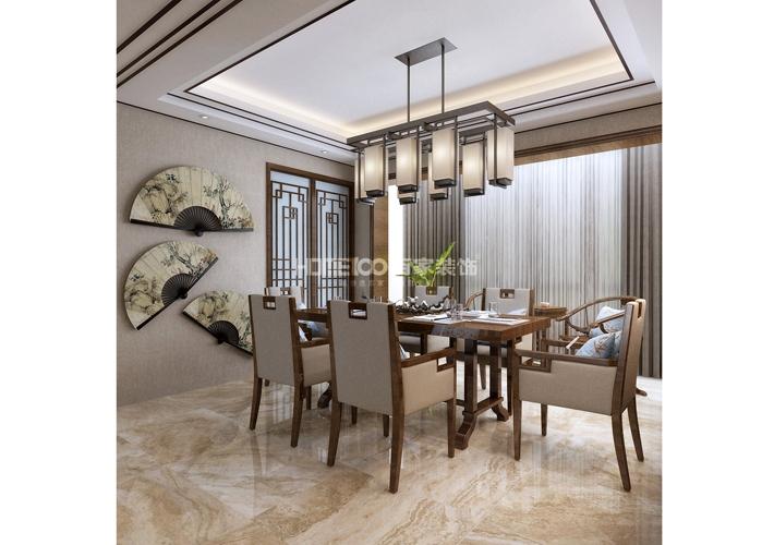 三居 中航城 中式风格 餐厅图片来自百家设计小刘在中航城133平中式风格半包6万的分享