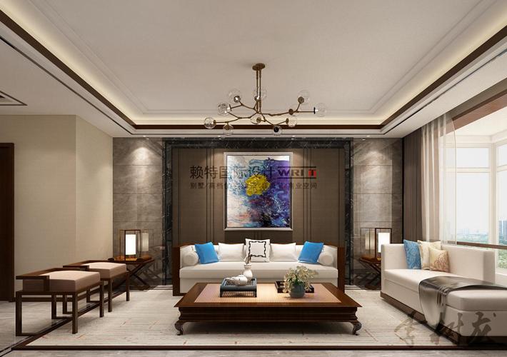 新中式 百家装饰 设计 效果图 别墅 客厅图片来自百家装饰--小莹在新中式风格的分享