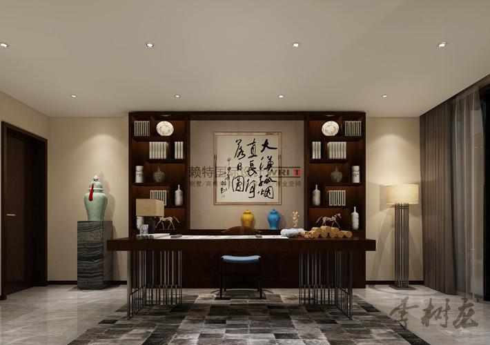 新中式 百家装饰 设计 效果图 别墅 书房图片来自百家装饰--小莹在新中式风格的分享
