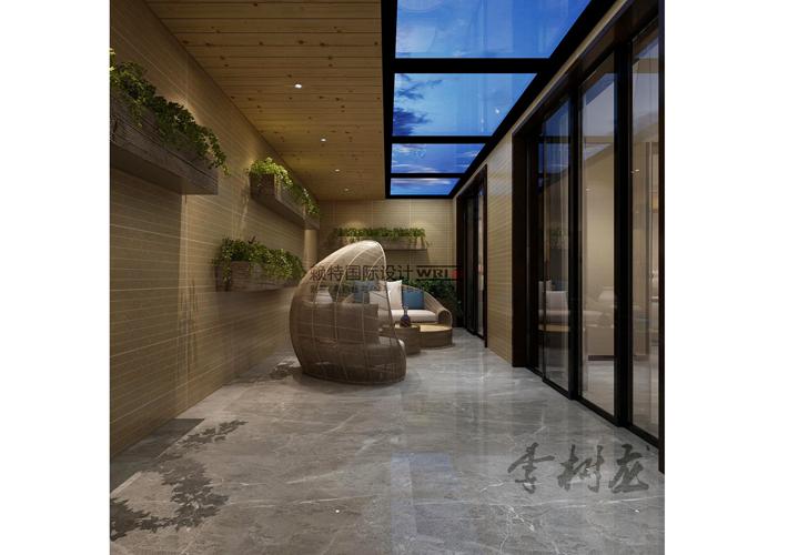 新中式 百家装饰 设计 效果图 别墅 阳台图片来自百家装饰--小莹在新中式风格的分享