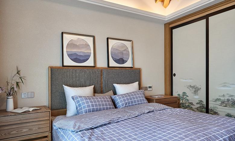 卧室图片来自家装大管家在135平日式禅意3居 停下忙碌脚步的分享