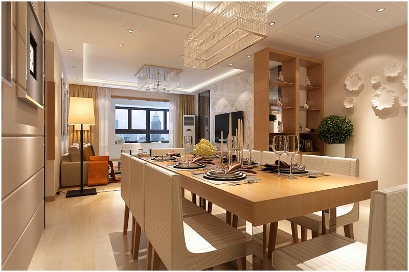 简约 晓港名城 四居 小资 餐厅图片来自快乐彩在晓港名城六期166平现代简约装修的分享
