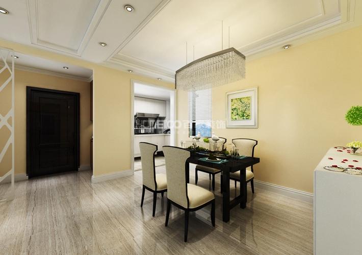 三居 中航城 现代风格 餐厅图片来自百家设计小刘在中航城128平现代风格半包5万的分享