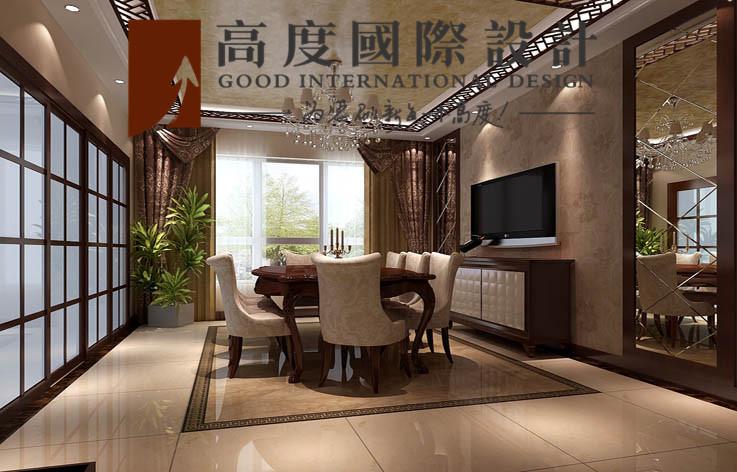 别墅 餐厅图片来自高度国际设计严振宇在四室两厅300平米户型港式风格的分享