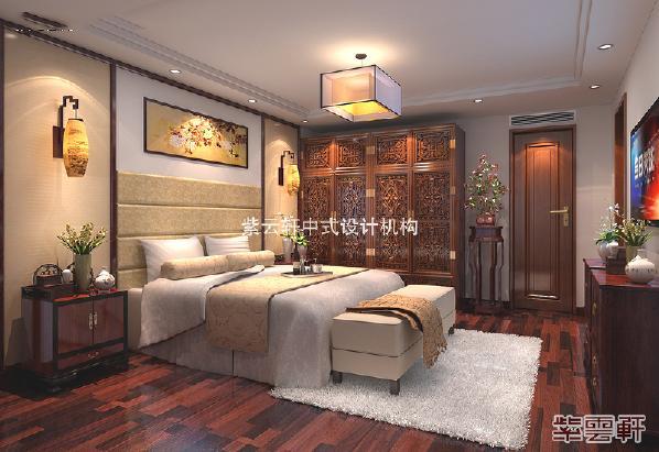 主卧品质要求极高,柔暖丝被,饱满床头软装,充分满足业主所追求的至尊享受。