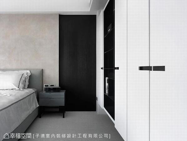 舍弃华美的装饰,床头以特殊漆与深木皮做极简设计,围塑安定沉静的睡眠空间。