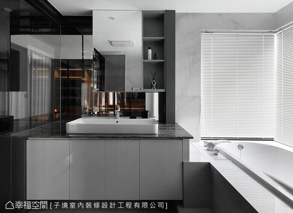 一居 小户型 现代 卫生间图片来自幸福空间在如梦似幻 66平零距离两人世界的分享