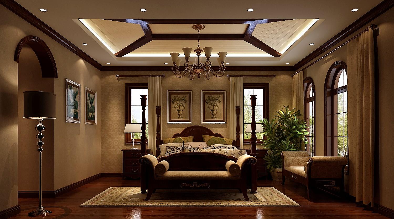 美式 古典 别墅 卧室图片来自高度国际设计严振宇在天竺新新家园美式新古典风格的分享