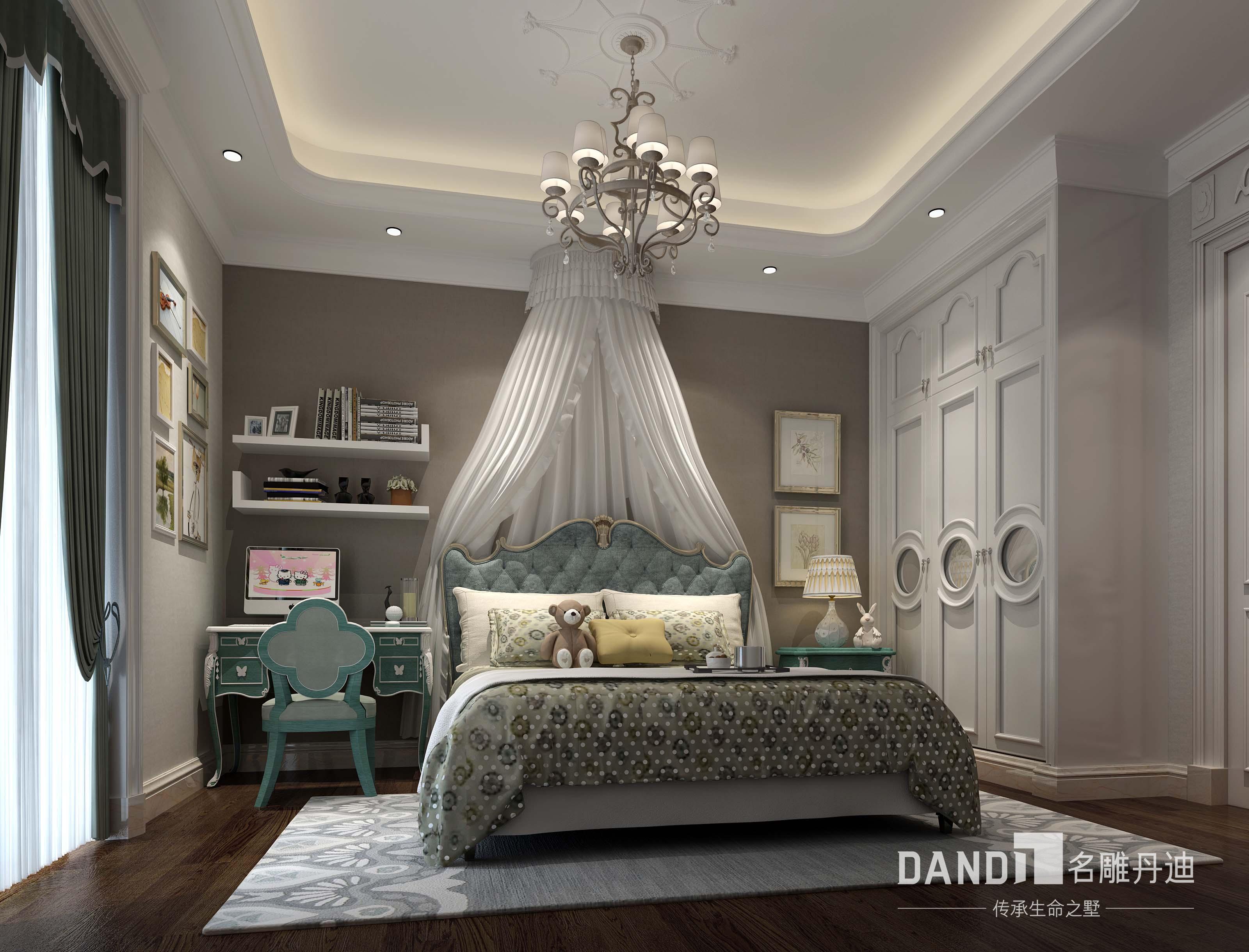 法式 欧式 卧室图片来自名雕丹迪在君临海域法式风格300平别墅的分享