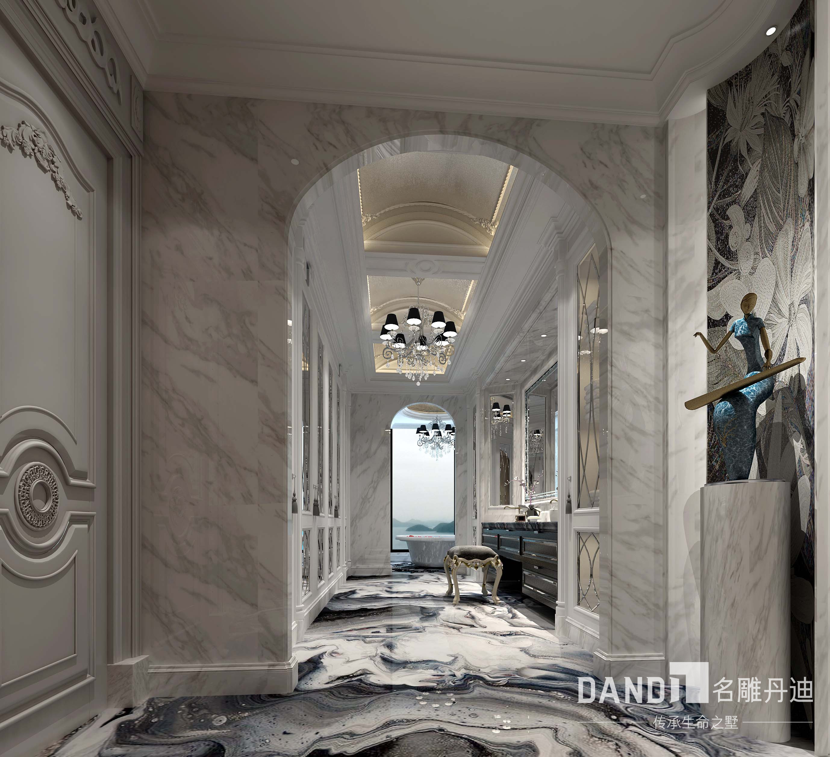法式 欧式 其他图片来自名雕丹迪在君临海域法式风格300平别墅的分享