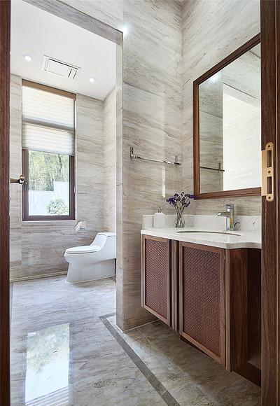 卫生间图片来自家装大管家在168平新中式4居 温馨轻松风情的分享