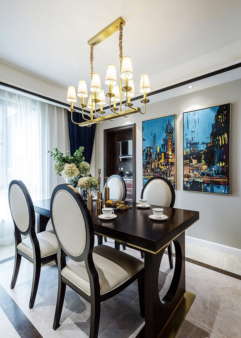 餐厅图片来自家装大管家在幸福时光 145平新古典混搭轻奢居的分享