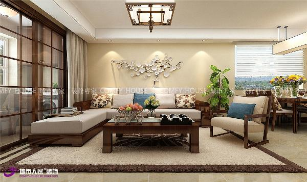祥泰和院客厅装修效果图