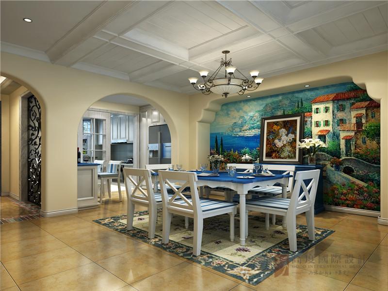 地中海 别墅 80后 小资 高帅富 餐厅图片来自高度国际姚吉智在330平米地中海风别墅海洋之心的分享