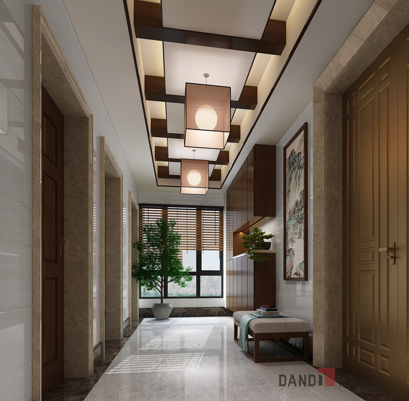 别墅 中式 玄关图片来自名雕丹迪在鼎峰原著300平方新中式装修的分享