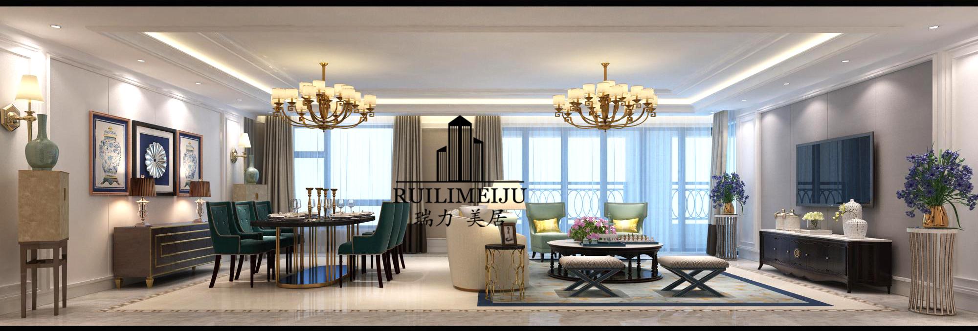 客厅 餐厅 欧式图片来自乐粉_20170824151903354在富丽华庭300平米简美白色系的分享