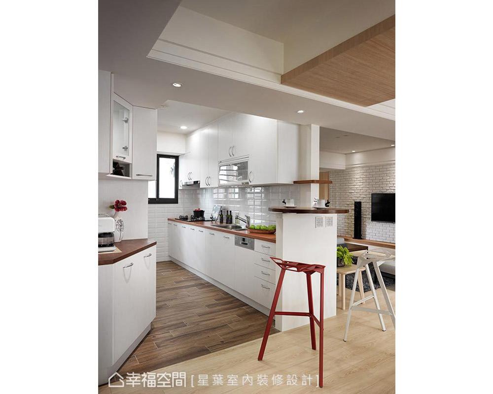 三居 北欧 旧房改造 大户型 厨房图片来自幸福空间在日光流动 162平北欧清新幸福宅的分享