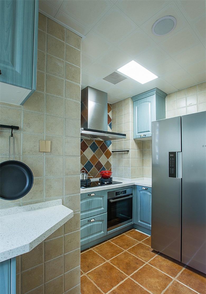 厨房图片来自家装大管家在童话王国 88平美式田园混搭空间的分享