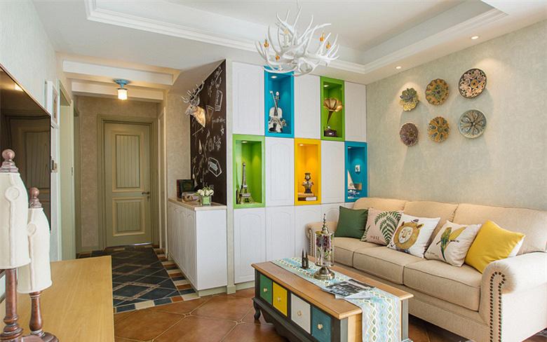 客厅图片来自家装大管家在童话王国 88平美式田园混搭空间的分享