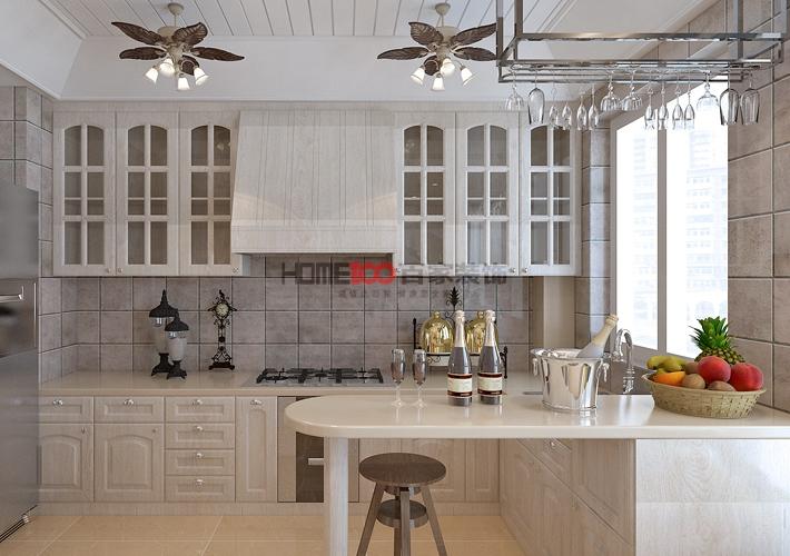 欧式 大话装修 8090 设计 施工 厨房图片来自百家装饰--小莹在名流印象137平欧式风格的分享