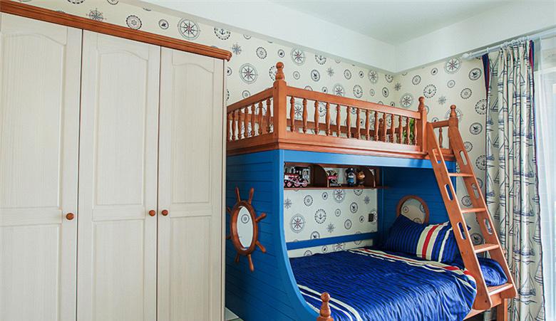 儿童房图片来自家装大管家在童话王国 88平美式田园混搭空间的分享
